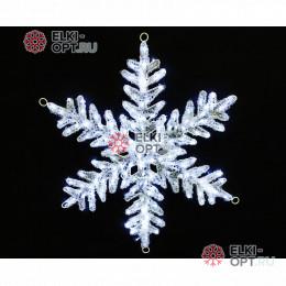 Светодиодная Акриловая фигура Снежинка 80см цвет белый