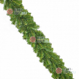 Еловая гирлянда d-15см цвет зеленый длина 2,7м  20шт х 298руб