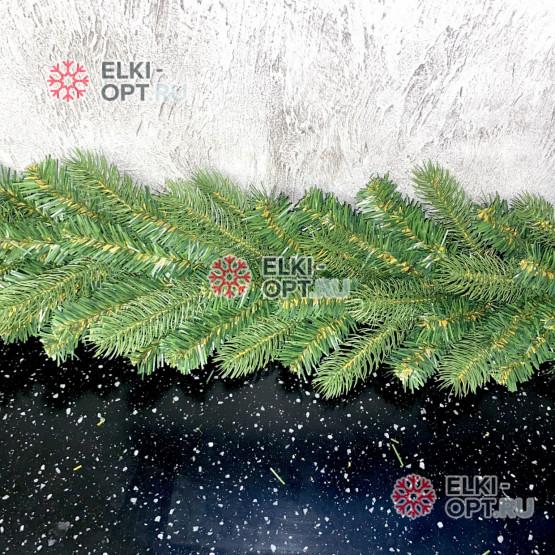 Еловая гирлянда Нева микс d-28см длина 200см цвет зеленый, хвоя PE + ПВХ