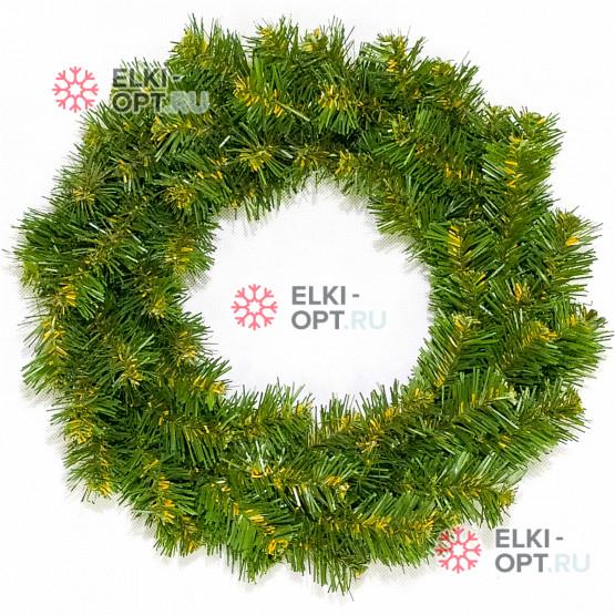 Венок новогодний  35см цвет зеленый