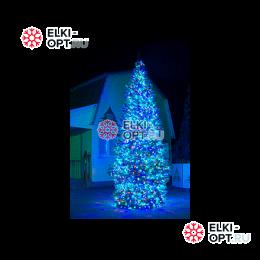 Гирлянды для уличной ёлки набор освещения для ёлки Премиум класса Кристалл-3 Трехцветное