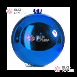 Шар пластиковый 15см цвет синий глянец (1шт/уп)