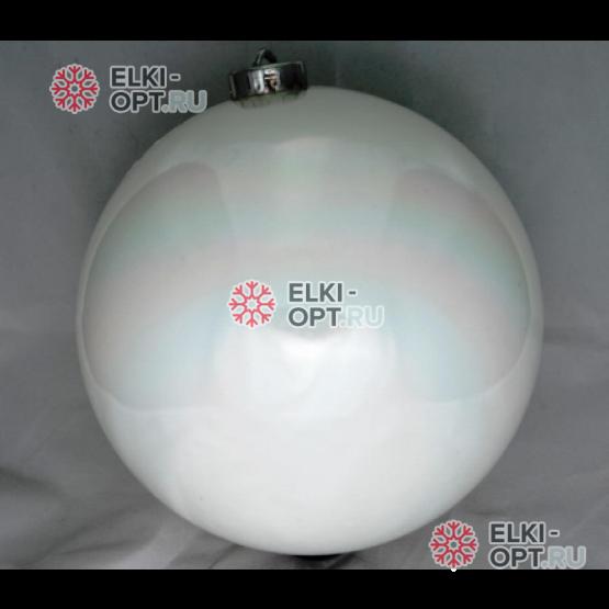 Шар пластиковый 15см цвет белый глянец (1шт)