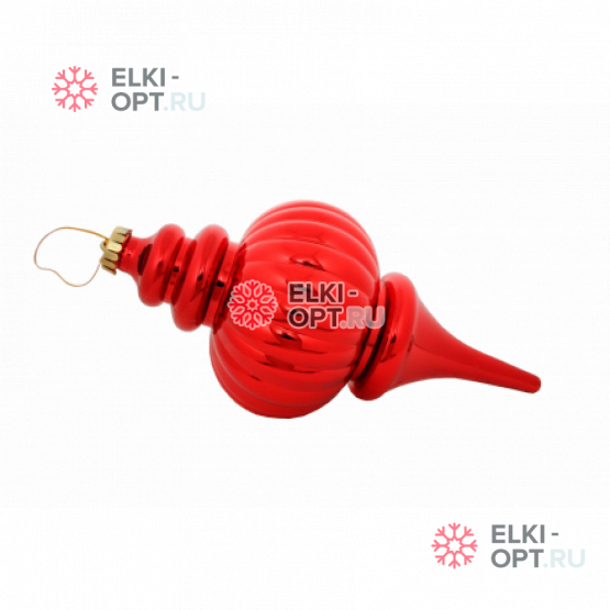 Сосулька пластиковая 25см цвет красный