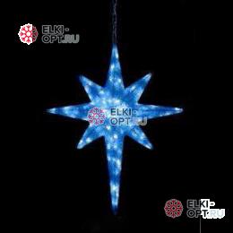 Светодиодная фигура Звезда 8-и конечная LED (100*80*12 см) синяя