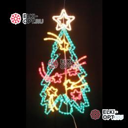 Светодиодная фигура Праздничная ель с кометами LED (100*77 см)