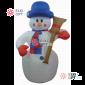 Надувная фигура Снеговик с метлой 2.4м