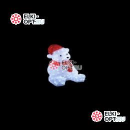 Световая Акриловая Фигура Мишка 56см цвет белый 3D