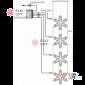 Световая Акриловая Фигура 4 снежинки LED (80 см) с контроллером