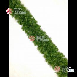Еловая гирлянда d-28см цвет зеленый с коричневой серединкой  длина 2,7м