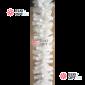 Еловая гирлянда цвет белый d-28см длина 2,7м  (300 веток)