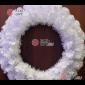 Венок новогодний d-50см цвет белый