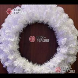 Венок новогодний 35см цвет белый