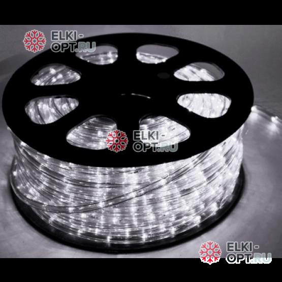 Дюралайт LED цвет белый 100м d-13мм трехжильный (чейзинг) (32led/m)
