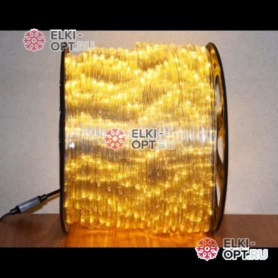 Дюралайт LED цвет теплый белый 100м d-13мм постоянное свечение двухжильный