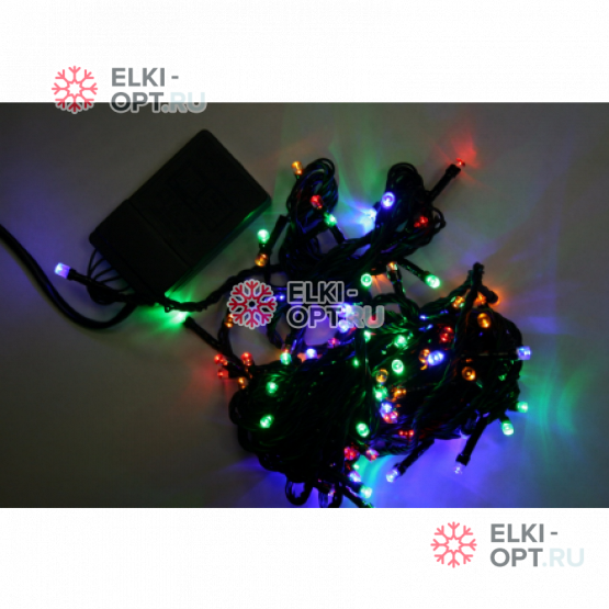 Светодиодная гирлянда цвет мульти 5м с контроллером 50LED IP22