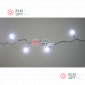 Светодиодная гирлянда Мультишарики цвет белый 10м с контроллером 100LED IP22
