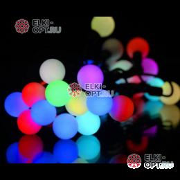Светодиодная гирлянда Мультишарики 10м d-1,8см цвет RGB IP65 флеш режим быстрый