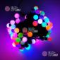 Светодиодная гирлянда Мультишарики d-1,8см 10м цвет RGB, быстрый режим 100LED, провод черный, IP65 (10шт *1700р)