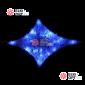 Комплект из акриловых звезд цвет бело-синий 12шт ,с контроллером, провод белый, IP44