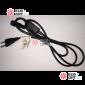 Шнур для подключения гирлянд 220V, провод черный