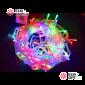 Светодиодная гирлянда цвет мульти 10м IP44, провод прозрачный, 220V