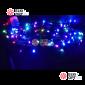 Светодиодная гирлянда цвет мульти RGB 10м IP44, провод черный, 220V
