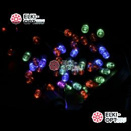 Светодиодная гирлянда 100LED мерцающая 10м  цвет мульти провод каучук IP65