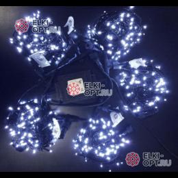 Светодиодная гирлянда Клип Лайт с мерцанием 5 лучей по 10м цвет белый 500LED 24V