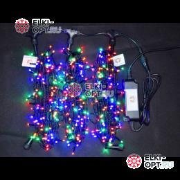 Светодиодная гирлянда Клип Лайт 3 луча по 20м цвет мульти 600LED 24V