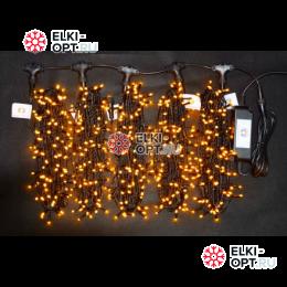 Светодиодная гирлянда Клип Лайт LED 5 нити по 20м цвет желтый 24V 100м