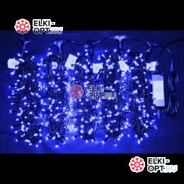 Светодиодная гирлянда Клип Лайт 5 лучей по 20м цвет синий 1000LED 24V