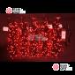 Светодиодная гирлянда Клип Лайт 5 нитей по 20м цвет красный постоянное свечение провод черный IP54 24V