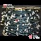 Светодиодная гирлянда Клип Лайт 12V цвет белый 100м шаг 15см 666 LED провод зеленый IP65