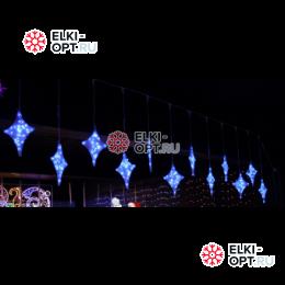 Светодиодная гирлянда Мерцающие звезды 6 шт цвет бело-синий