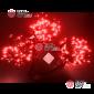 Светодиодная гирлянда Клип Лайт 3 нити по 10м цвет красный постоянное свечение провод черный IP54 24V