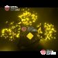 Светодиодная гирлянда Клип Лайт 3 нити по 10м цвет желтый постоянное свечение провод черный IP54 24V