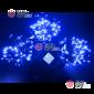 Светодиодная гирлянда Клип Лайт 3 нити по 10м цвет синий постоянное свечение провод черный IP54 24V