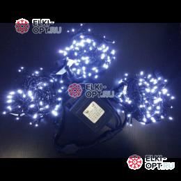 Светодиодная гирлянда Клип Лайт 3 луча по 10м цвет белый 300LED 24V