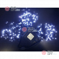 Светодиодная гирлянда Клип Лайт 3 нити по 10м цвет белый постоянное свечение провод черный IP54 24V