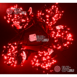 Светодиодная гирлянда Клип Лайт с мерцанием 5 лучей по 10м цвет красный 500LED 24V
