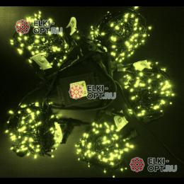 Светодиодная гирлянда Клип Лайт 5 нитей по 10м цвет теплый белый постоянное свечение провод черный IP54 24V