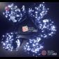 Светодиодная гирлянда Клип Лайт 5 нитей по 10м цвет белый постоянное свечение провод черный IP54 24V