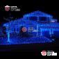 Светодиодная бахрома 3х0,5м цвет синий,провод прозрачный, IP44,постоянное свечение