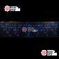 Светодиодная бахрома 3х0,5м цвет синий чёрный провод IP44 постоянное свечение