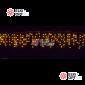 Светодиодная бахрома цвет желтый 3х0,6м прозрачный провод IP44 постоянное свечение