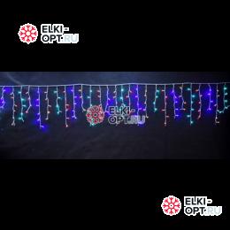 Светодиодная бахрома 3х0,6м цвет мульти, провод черный, IP44, постоянное свечение