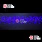 Светодиодная бахрома  3х0,6м цвет синий, провод черный, IP44, постоянное свечение