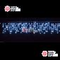 Светодиодная бахрома 3х0,6м  цвет белый, провод прозрачный, IP44, постоянное свечение