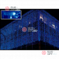 Cветодиодный занавес 2х3м  цвет синий провод прозрачный с контроллером, IP44, 600LED